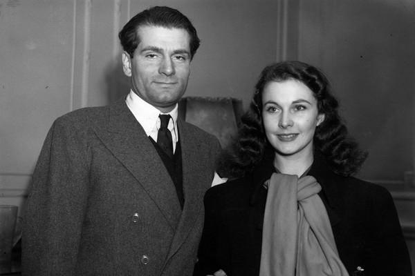 A atriz Vivien Leigh com o marido, o ator Laurence Olivier (Foto: Getty Images)