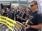 Delegados da PF em Minas Gerais fazem protesto em Belo Horizonte