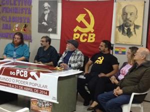 Convenção do PCB foi realizada neste sábado em SP (Foto: Tatiana Santiago/ G1)
