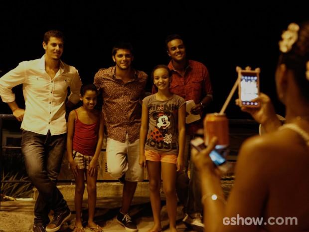 Sacha Bali, Bruno Gissoni e Jorge de Sá também marcaram presença na gravação (Foto: Inácio Moraes/TV Globo)