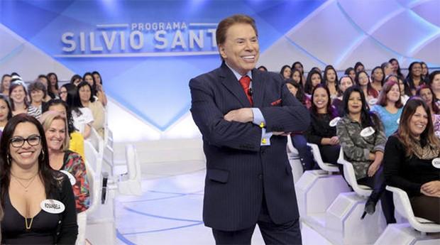 O apresentador Silvio Santos: ele não autorizou, mas divulga nova biografia (Foto: SBT)