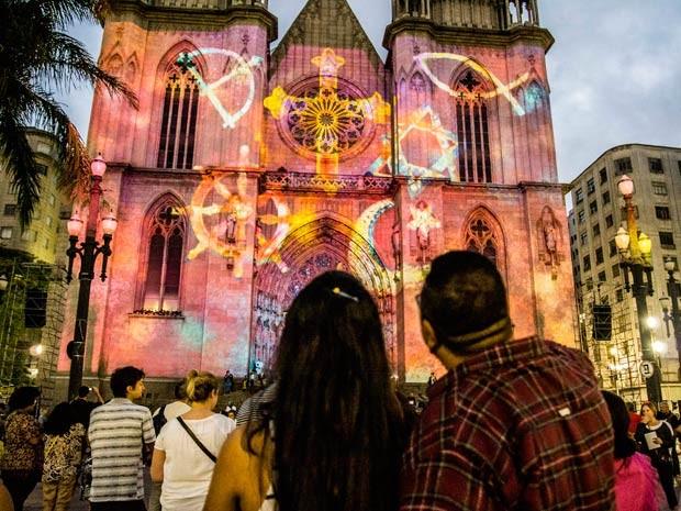 Decoração de Natal na Catedral da Sé. (Foto: Cris Faga/Fox Press Photo/Estadão Conteúdo)
