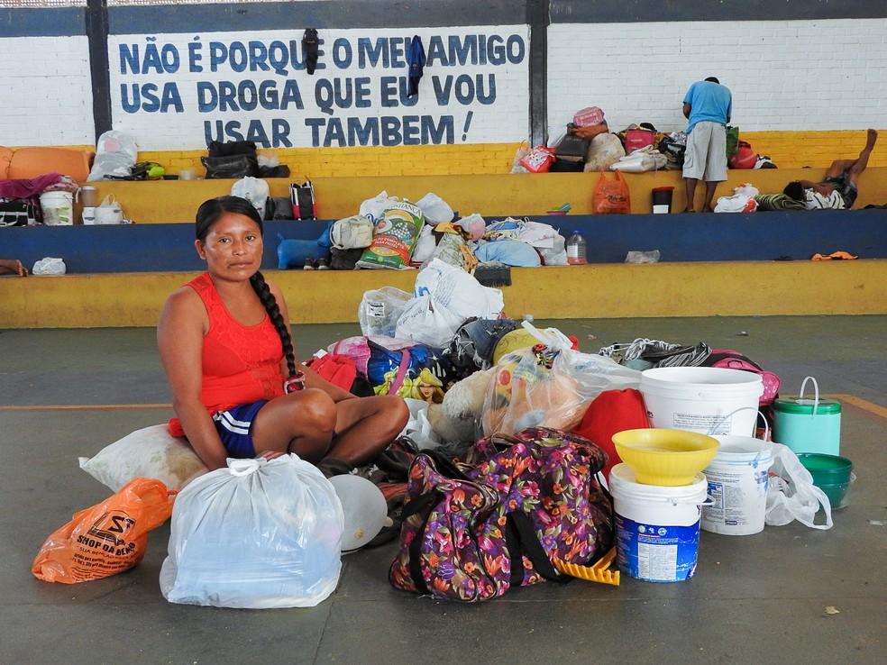 Antes do abrigo, imigrantes dormiam nas ruas de Boa Vista e na rodoviária da capital (Foto: Inaê Brandão/G1 RR)