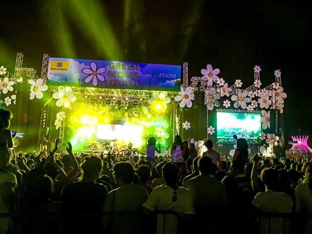 Público assiste a show do Green Move Festival, na Esplanada dos Ministérios, em Brasília (Foto: Felipe Menezes/Divulgação)