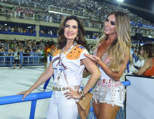 Fátima Bernardes e Nicole Bahls (Foto: Renato Wrobel/ Ed. Globo)