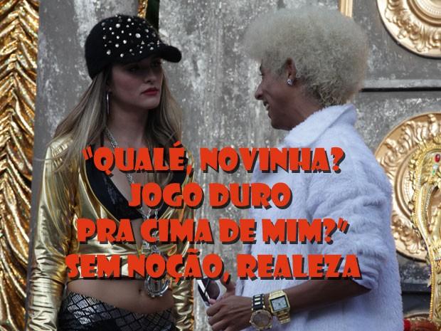 A marra desse MC tá de matar. Será que alguém pode botar pressão nesse mané? (Foto: Malhação / TV Globo)