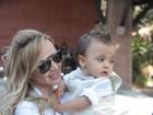 Eliana batiza o filho em São Paulo e menino dá show de estilo