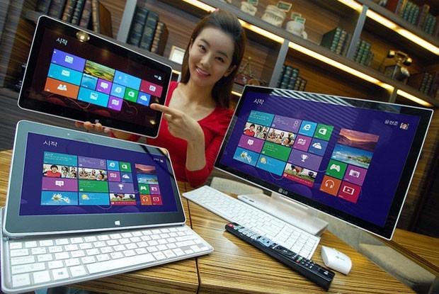 Tablet da LG tem teclado que aparece ao deslizar a tela (Foto: Divulgação)