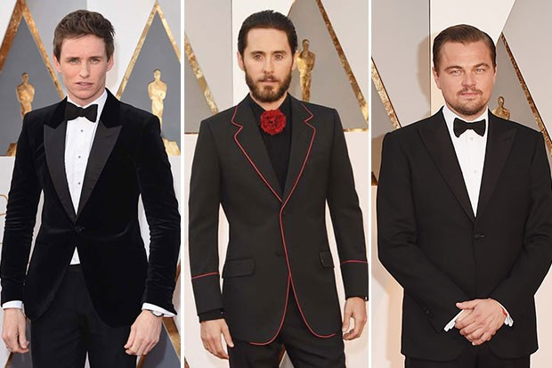 Eddie Redmayne, Jared Leto e Leonardo DiCaprio (Foto: Getty Images)