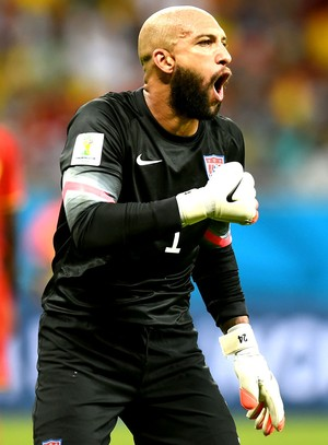 Tim Howard jogo Estados Unidos x Bélgica Arena Fonte Nova (Foto: Getty Images)