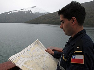 Prático chileno (Foto: Eduardo Carvalho/G1)