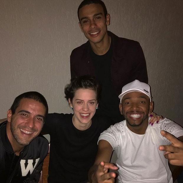 André Marques, Sophia Abraão, Sergio Malheiros e Nego do Borel em festa no Rio (Foto: Instagram/ Reprodução)
