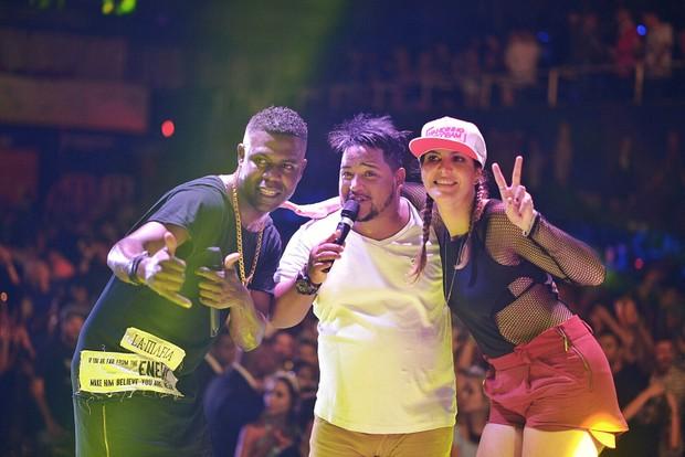 Nandinho, Nego Bam e Carol Sampaio (Foto: Jackson Martins/Flash To Rec)