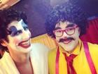 Reynaldo Gianecchini e Tony Ramos se vestem de palhaços