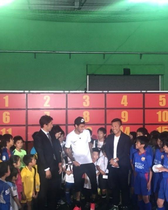 Neymar em evento no Japão