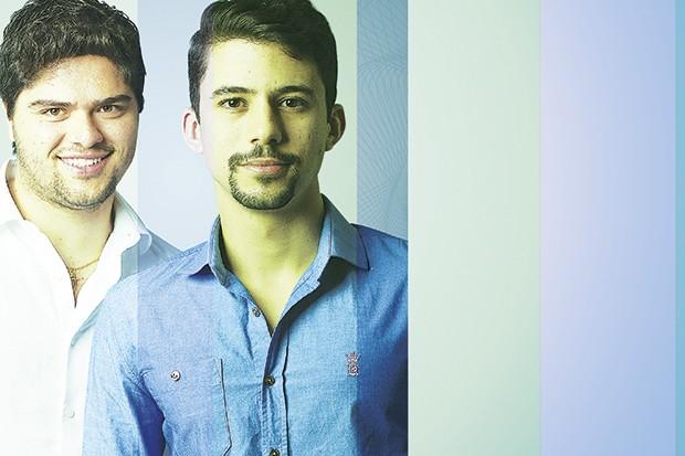 Rafael Belmonte (à esq.) e Daniel Arcoverde, da Netshow.me: acesso à estrutura e aos contatos da Wayra (Foto: Julia Rodrigues)