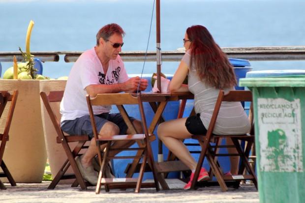 Herson Capri e sua esposa gravida (Foto: J.Humberto/AgNews)