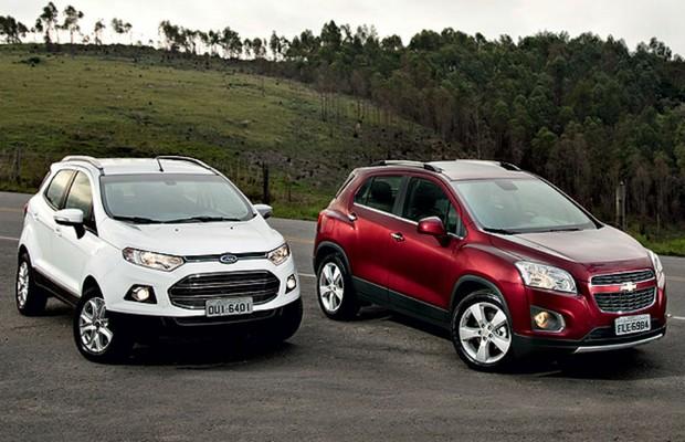 Ford EcoSport vs Chevrolet Tracker (Foto: Fabio Aro)
