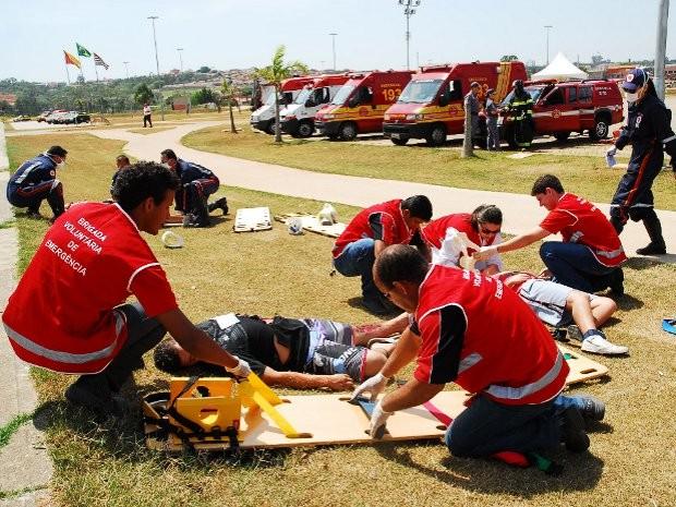 Objetivo da ação é integrar todas as equipes de diversos órgãos socorristas (Foto: Divulgação/Prefeitura de Sorocaba)