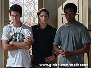 Ben, Antônio e Frédéric ajudam com a farsa (Foto: Malhação / TV Globo)