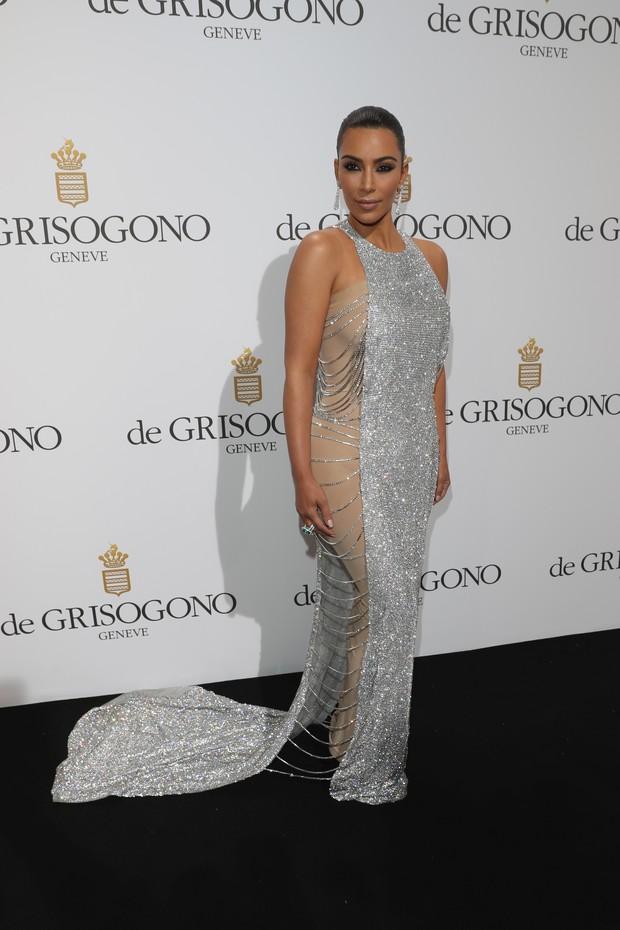 Kim Kardashian em festa vip de Cannes (Foto: Getty Image)