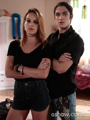 Ambos acreditam que a relação dos personagens não é séria (Foto: Felipe Monteiro / TV Globo)