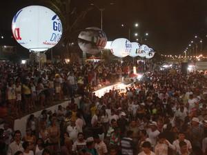 Público na Praia do Meio (Foto: Divulgação/Governo do Estado)