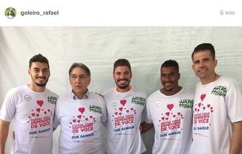 Goleiros de Coelho, Cruzeiro e Galo se unem em prol de doação de sangue