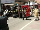 Mulher fica ferida ao ser atropelada por caminhão de sorvete em Valença