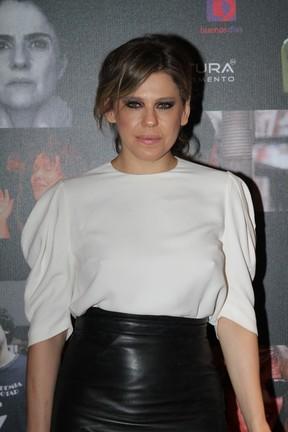 Bárbara Paz em prêmio de teatro na Zona Norte do Rio (Foto: Anderson Borde/ Ag. News)