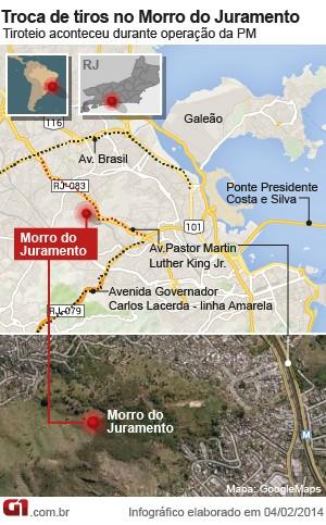 Rio de Janeiro Operação da PM no Morro do Juramento, no Rio, deixou seis mortos e quatro feridos