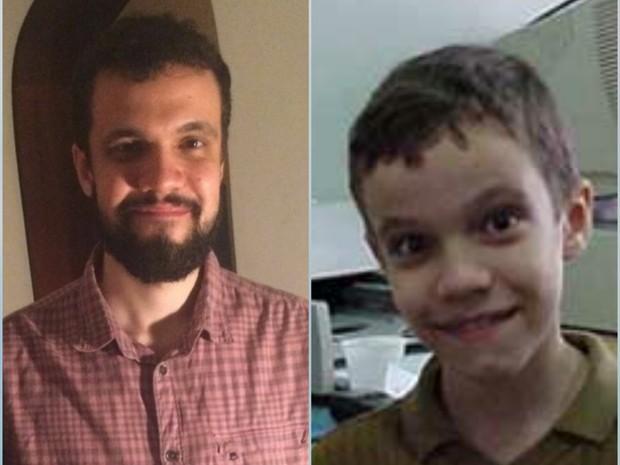 Gustavo Pereira hoje em dia e na época do programa Gente inocente (Foto: EGO e Arquivo pessoal)