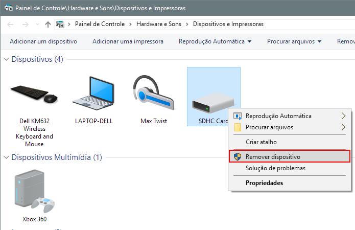 Remova o cartão USB do sistema (Foto: Reprodução/Paulo Alves)
