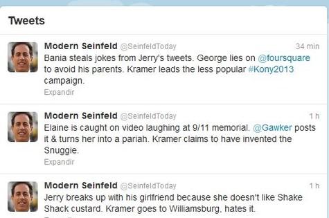 Modern Seinfeld: nova moda no Twitter (Foto: Reprodução)