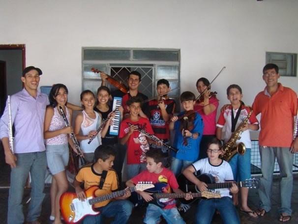 Alunos do Sementes do Reino (Foto: Arquivo/Divulgação)