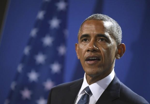 O presidente dos EUA, Barack Obama, em Berlim (Foto: Kay Nietfeld/EFE)