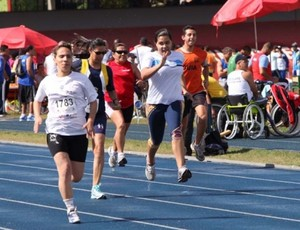 Atletismo PCD Mogi das Cruzes Jogos Abertos 2013 (Foto: Divulgação / PMMC)