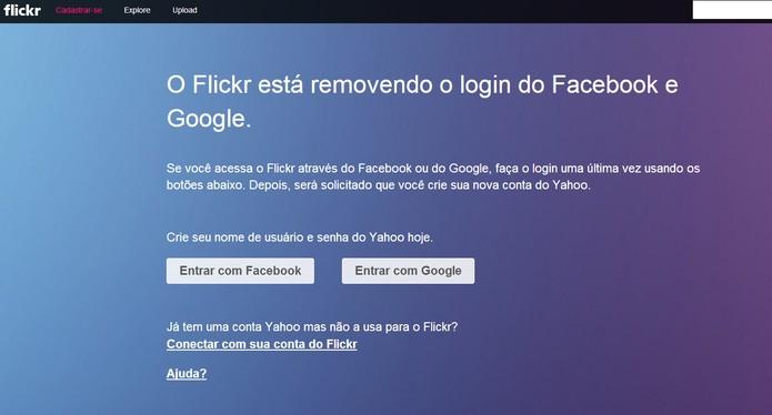 Flick não permitirá mais logins via Facebook ou Google a partir do dia 30 (Foto: Reprodução/Barbara Manara)