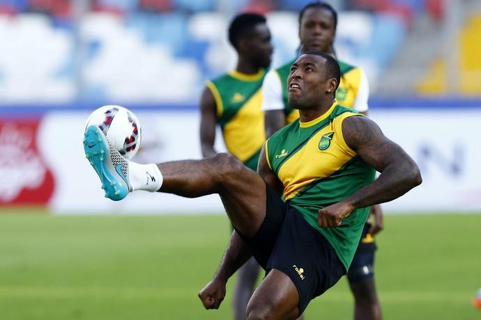 Wes Morgan zagueiro Jamaica treino (Foto: EFE/Javier Valdes Larrondo)