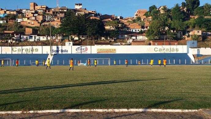 Treino desta quinta foi o penúltimo do CSA em Maceió (Foto: Augusto Oliveira / GloboEsporte.com)
