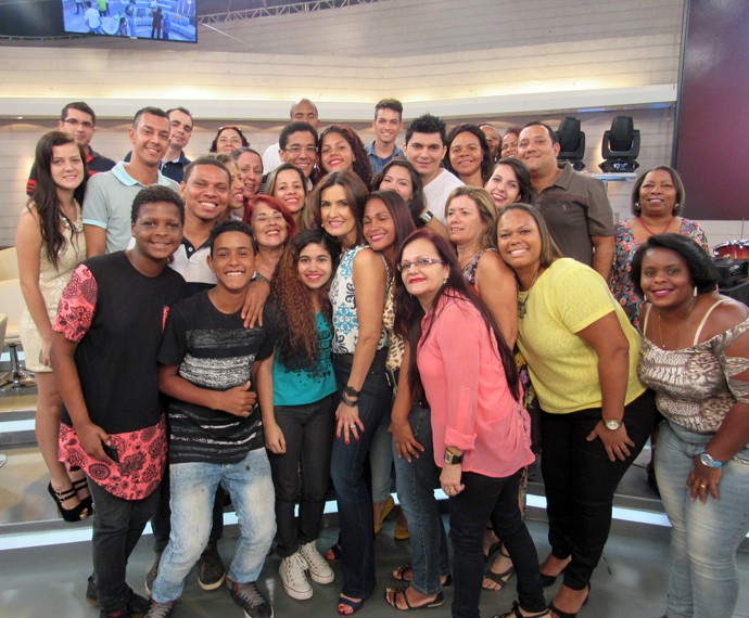Plateia com a Fátima (Foto: Viviane Figueiredo Neto/Gshow)