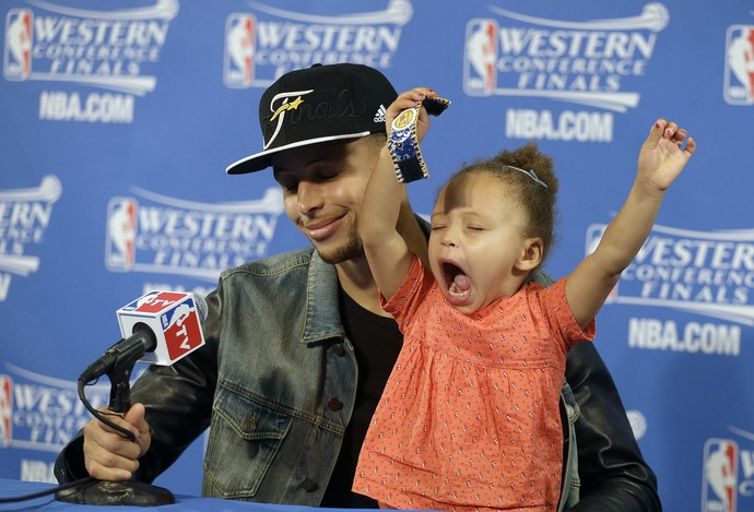 Riley Curry, filha Stephen Curry, Golden State Warriors (Foto: AP)