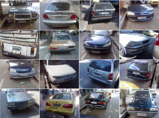 Leitor registra carros abandonados no Centro do Rio de Janeiro (Foto: Rafael Aislan Amaral/VC no G1)