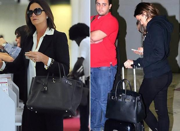 [MODA] Bolsas Birkin Hermès - Luiza Brunet e Bruna Marquezine (Foto: Agnews / FotoRioNews)