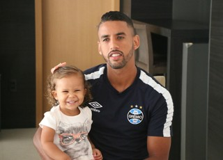 Michel filha Luiza Grêmio (Foto: Eduardo Moura/GloboEsporte.com)