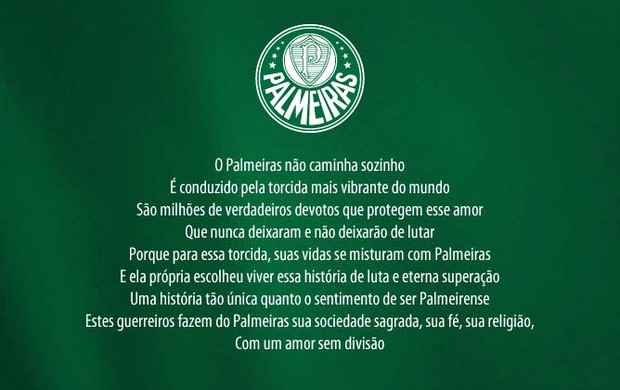 Site do Palmeiras após o rebaixamento (Foto: Reprodução)