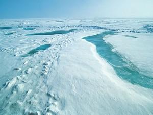 Imagem mostra região do Ártico. Segundo a Agência Espacial Europeia, camada de gelo foi maior que em 2012 (Foto: Divulgação/ESA)