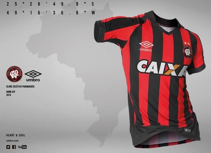 Atlético-PR nova camisa (Foto: Divulgação/Atlético-PR)