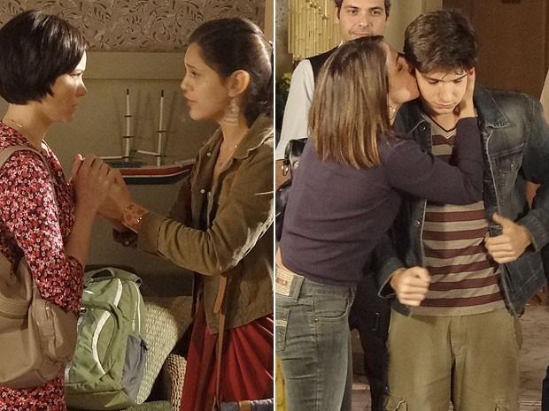 Laís e Julinho voltam para os braços dos pais (Foto: Amor Eterno Amor/TV Globo)