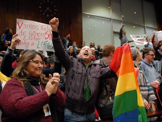 Votação plano estadual de educação Assembleia RS (Foto: Stephanie Gomes/Agência ALRS)